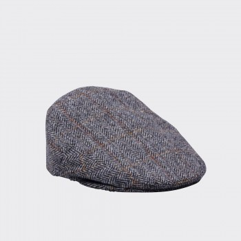 Casquette Glen Harris Tweed : Gris/Marron