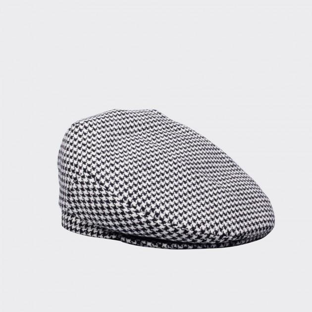 Houndstooth Oslo Cap: Black/White