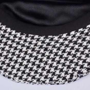Casquette Oslo Pied-de-Poule: Noir/Blanc