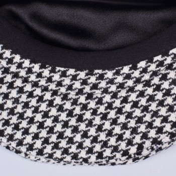 Houndstooth Oslo Cap : Black/White