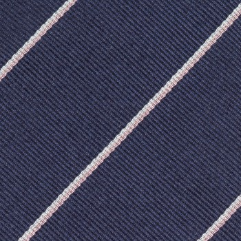 Silk Regimental Tie  : Navy/White/Light Pink