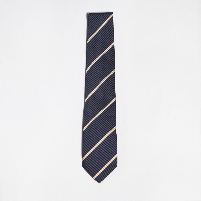 cravate soie rayures club marine blanc rose p le beige habilleur. Black Bedroom Furniture Sets. Home Design Ideas