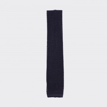 Knitted Tie: Navy