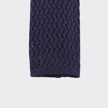 Cravate Tricotée  Zigzag: Marine