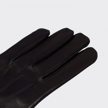 Cashmere Lined Nappa Gloves : Black