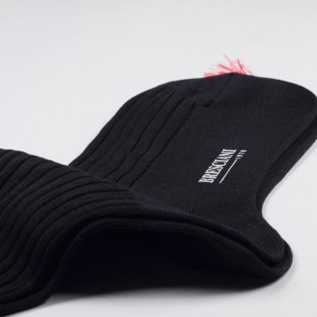 Knee-Lenght Lisle Cotton Socks: Navy