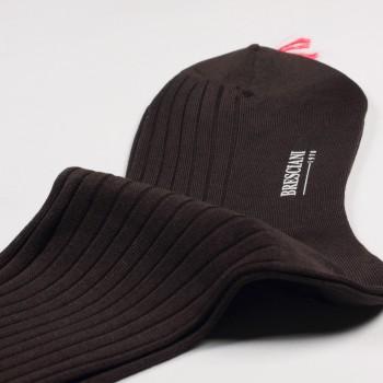Knee-Lenght Lisle Cotton Socks : Coffee