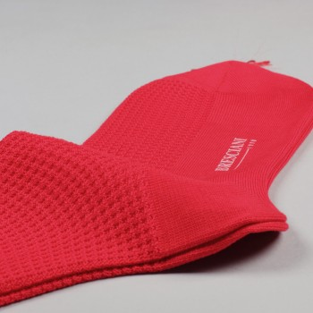 Knee-Lenght Lisle Cotton Grenadine Socks : Red