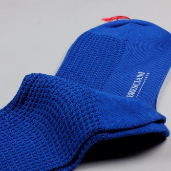 Knee-Lenght Lisle Cotton Grenadine Socks : Royal Blue
