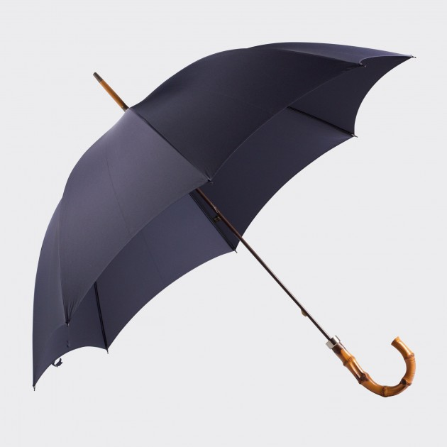 Parapluie Bambou: Bleu Foncé