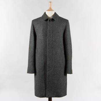 Pardessus Harris Tweed Pied-de-Poule: Gris