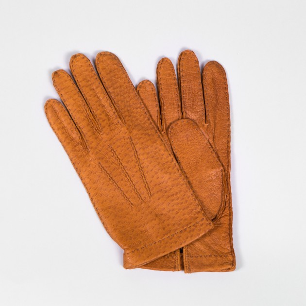 Peccary Gloves : Tobacco Brown