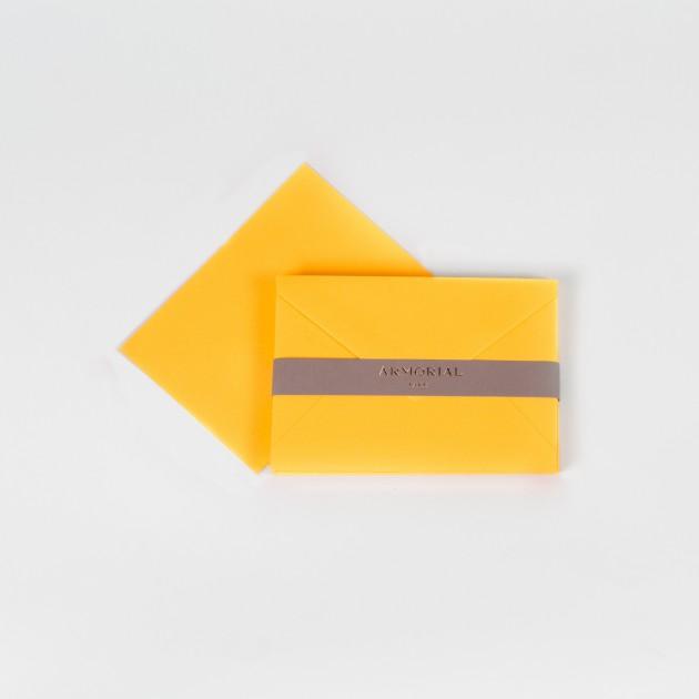 Cartes et Enveloppes assorties : Jaune