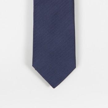 Cravate Soie Chevrons ton sur ton : Marine