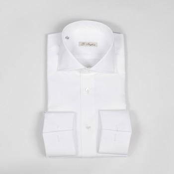 Spread Collar Shirt: White