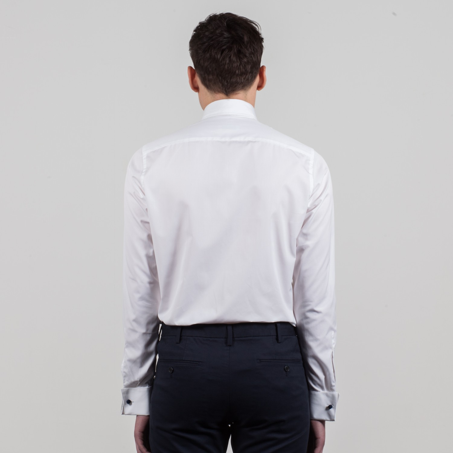 Spread collar shirt white beige habilleur for What is a spread collar shirt