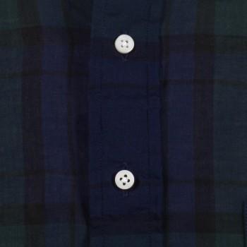 Chemise Polo Voile Japonais : Marine/Vert