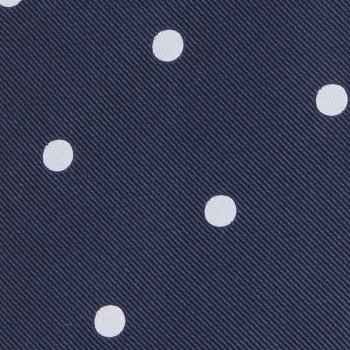 Cravate à Pois Soie Jacquard: Marine/Blanc