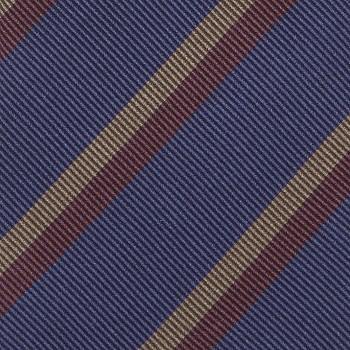 Cravate à Rayures Club Soie : Marine/Bordeaux/Beige