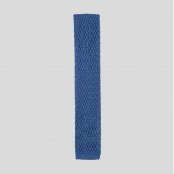 Cravate Tricotée Zigzag : Bleu Cobalt