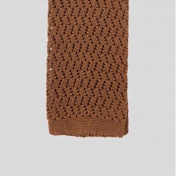 Cravate Tricotée Zigzag : Cuivre