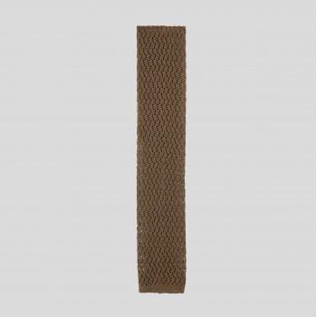 Zigzag Knitted Tie: Khaki