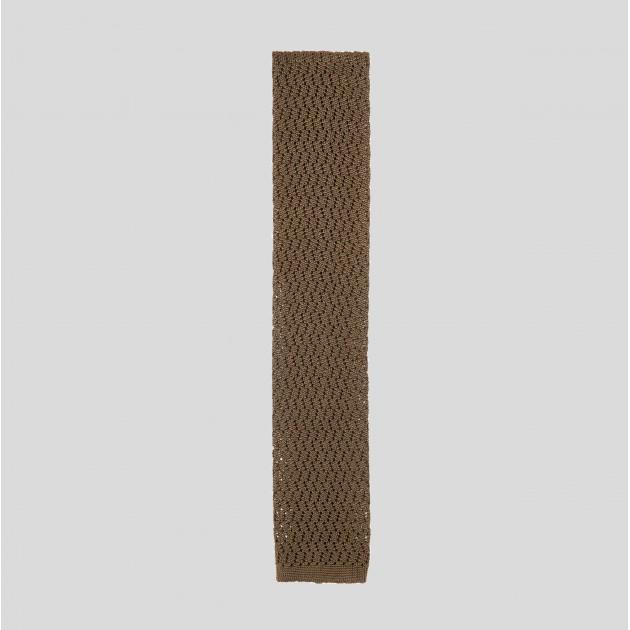 Cravate Tricotée Zigzag : Kaki