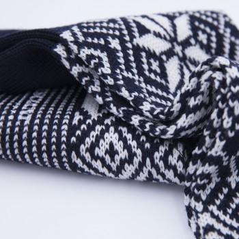 Chaussettes Courtes Norvégienne : Marine/Blanc
