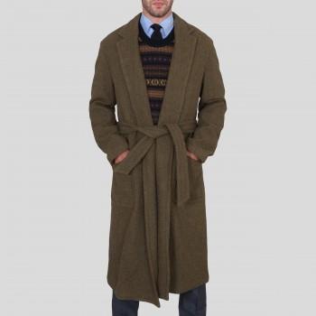 Pardessus en laine à ceinture