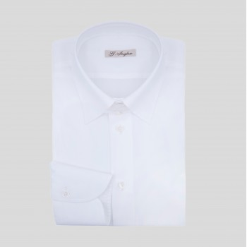 Tab Collar Shirt : White