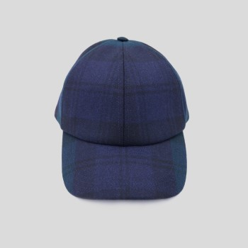 Casquette Baseball Laine : Blackwatch Tartan