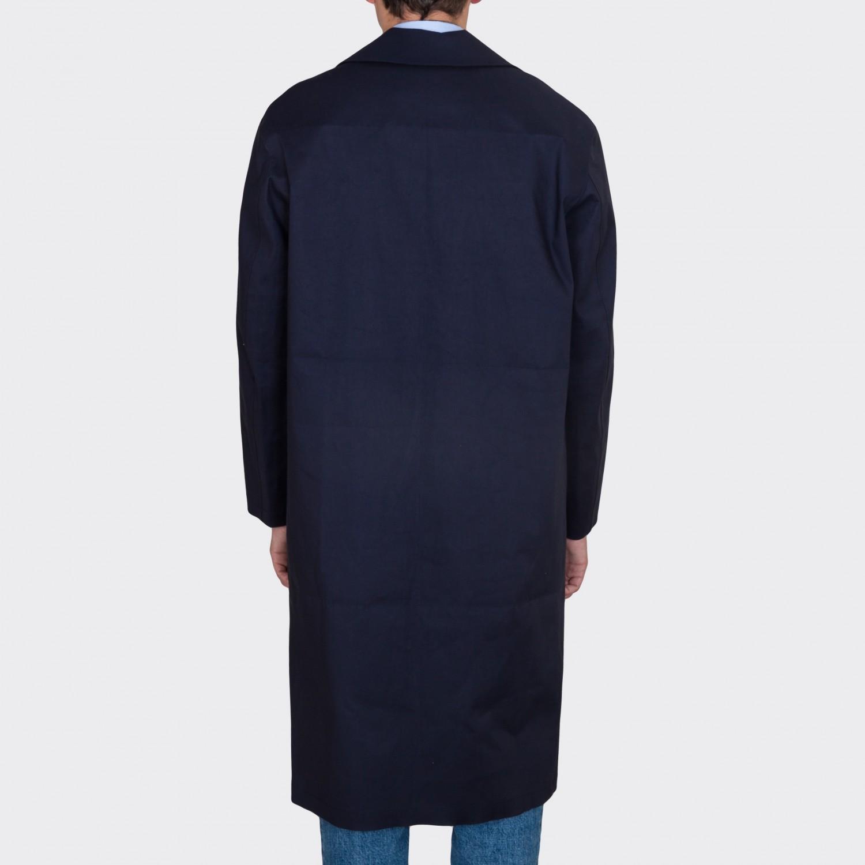 Notch Lapels Raincoat : Navy - Beige Habilleur