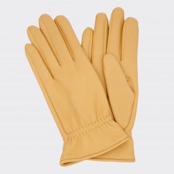 Deerskin Worker Gloves: Yellow