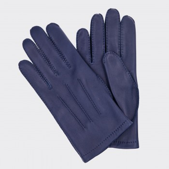 Lambskin Gloves : Midnight Blue