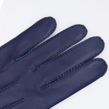 Gants Agneau Glacé : Bleu Nuit