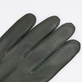 Lambskin Gloves: British Green