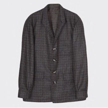 Teba Jacket Pied-De-Poule Laine : Olive