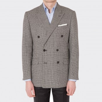Prince of Wales Double-Breasted Jacket – Black/White