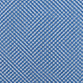 Cravate Pied-De-Poule Soie  :  Bleu Ciel/Blanc