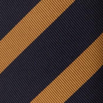 Cravate Club Soie :  Marine/Jaune