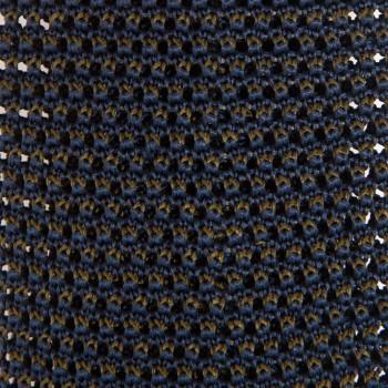 Cravate Soie Tricotée Soie : Marine/Olive