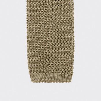 Cravate Soie Tricotée Soie : Pistache