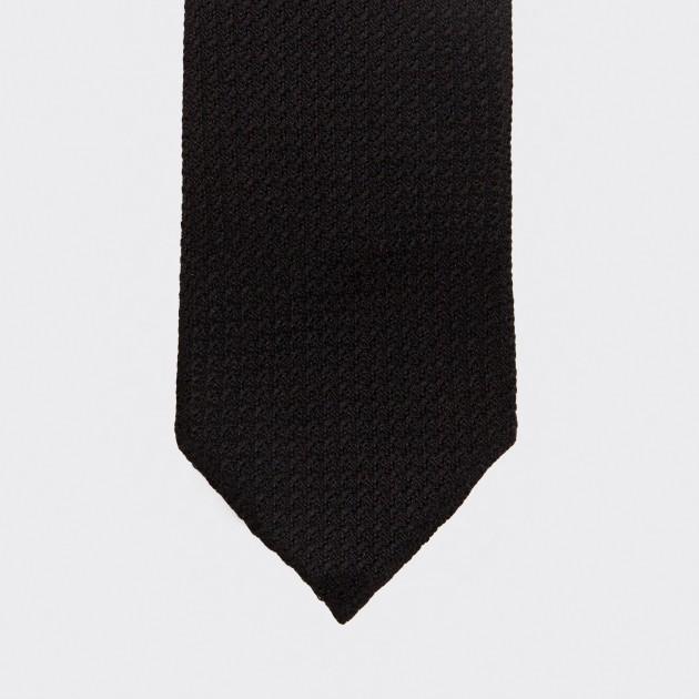 Cravate Grenadine De Soie : Noir