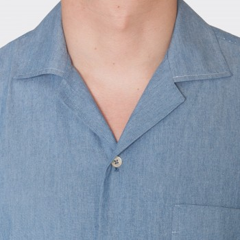 Chemise Col Requin Chambray : Beu Denim