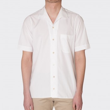 Chemise Col Requin Coton : Blanc