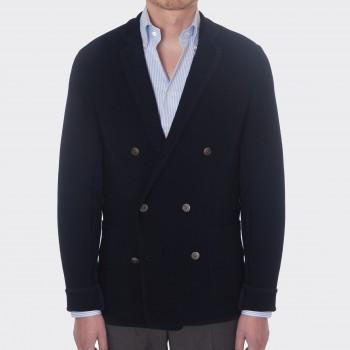 Cardigan Croisé Coton : Marine