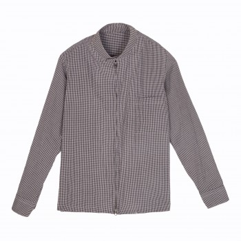 Mini Checked Harrigton Jacket : Brown/Navy/White