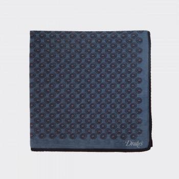Pochette Patchwork  Coton et Soie : Bleu