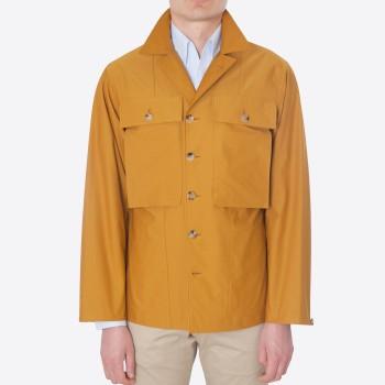 """""""VERNON"""" Twill Jersey Field Jacket : Saffron"""