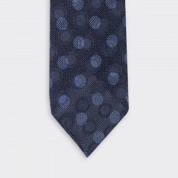 Cravate Grenadine de Soie : Marine/Bleu